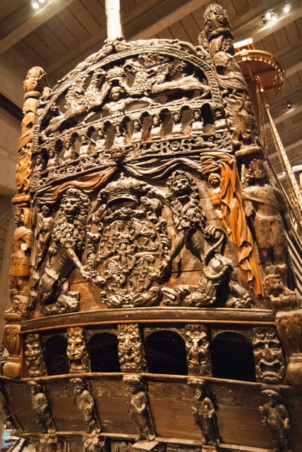 Sculptures on Vasa Warship, Stockholm