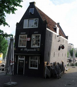 Read more about the article Grown-up Travel Guide Daily Photo: Very old and very wonky pub, Amsterdam, the Netherlands