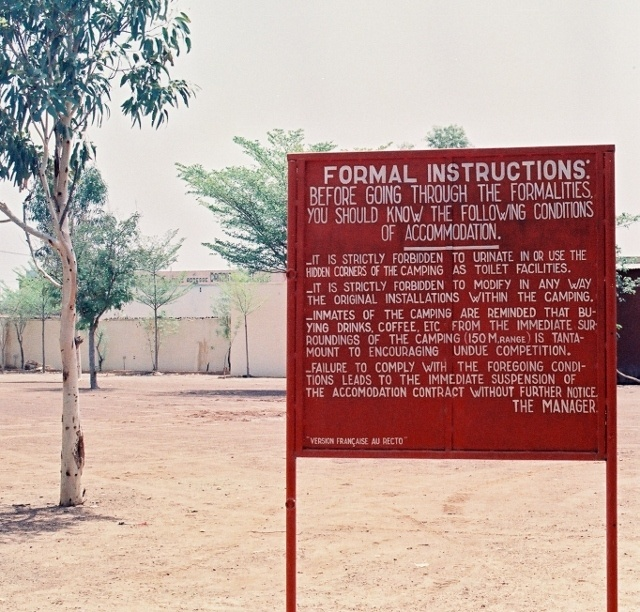 Read more about the article Retro Travel Photo – Before We Grew Up: Ouagadougou campsite, Burkina Faso, West Africa