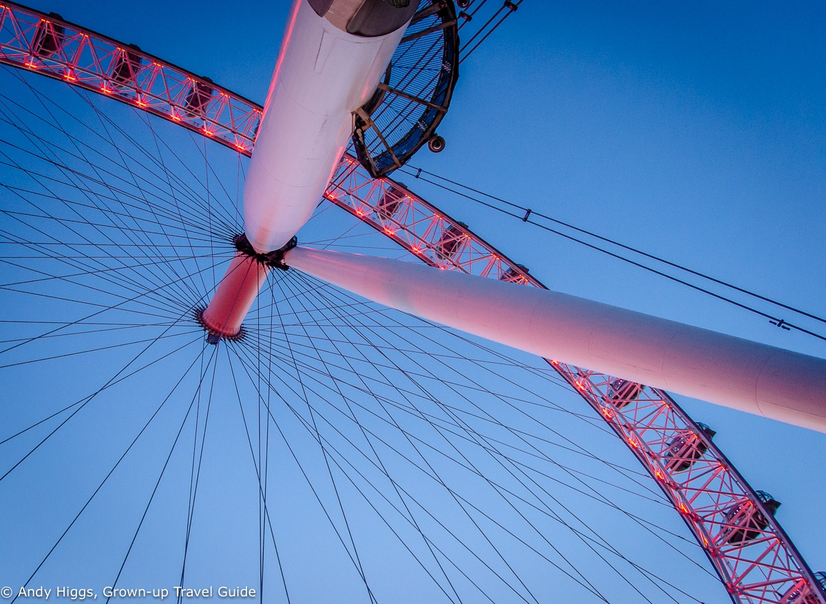 Read more about the article Grown-up Travel Guide's Best Photos: Underneath the London Eye, London, England
