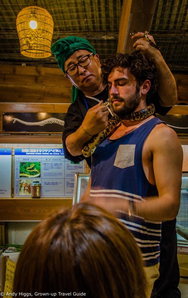 Ryukyu Village snake round neck
