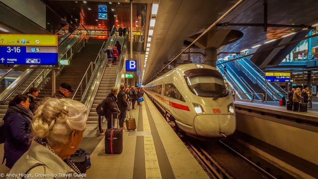 ICE arriving Berlin Hauptbahnhof