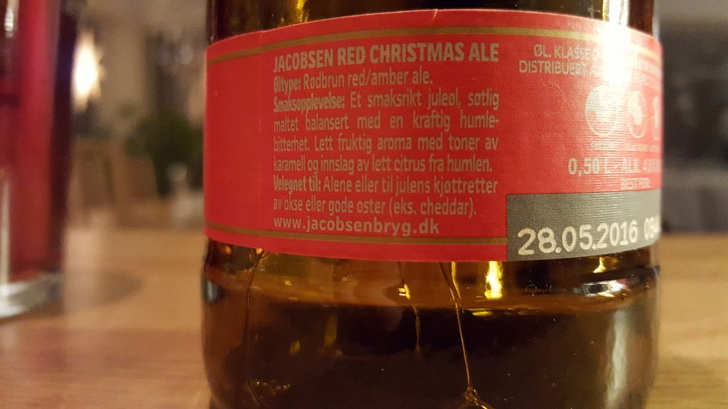 Grown-up Travel Guide Beer Diary - Day 345/Beer Advent Calendar Day 11: Red Christmas Ale from Jacobsen of Copenhagen, Denmark