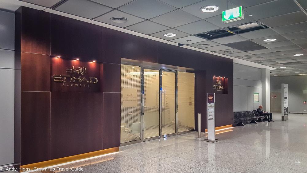 Etihad Lounge exterior Frankfurt